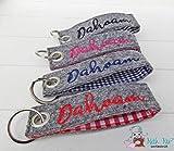 Schlüsselband FILZ Dahoam oder Wunschtext - verschiedene Farben - HANDGEMACHT - Taschenbaumler Anhänger Taschenanhänger Deko-Anhänger