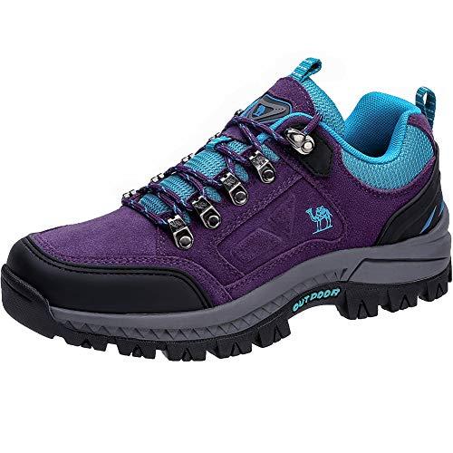 CAMEL CROWN Damen Wasserdichte Wanderschuhe Outdoor Trekking Schuhe Sport Hiking Bergschuhe für Klettern Reisen Täglichen Gebrauch Trainer