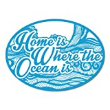 Home Is Where the Ocean Is Surfing Sticker Decal Surfboard Vintage