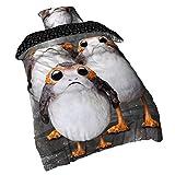 Character World Star Wars Wende Bettwäsche Triple PORG 2tlg 80x80cm 135x200cm Elbenwald Baumwolle grau weiß