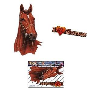 Pferd Braun Tier Auto Aufkleber - ST00052BR_SML - JAS Aufkleber
