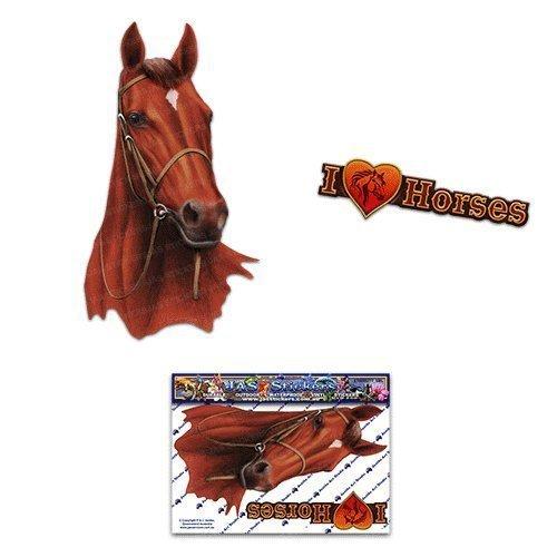 JAS-Aufkleber ST00052BR_SML Pferd, Braun, klein -