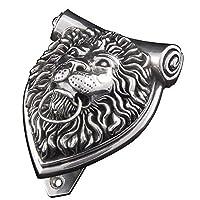 Vicenza Designs DK9000 Sforza Lion Door Knocker, Antique Silver by Vicenza Designs