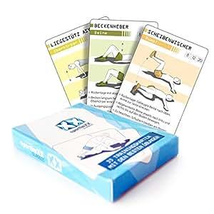 sportboXX classic Trainingskarten - Trainingsplaner mit Bodyweight Übungen ohne Geräte, Ganzkörpertraining, Stabi, Workout für zuhause