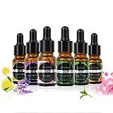 Ätherische Öle COOSA 100% Pur und Naturrein Aromatherapie Duftöl 6 verschieden Aromen Teebaumöl, Pfefferminzöl, Zitronenöl, Lavendelöl, Süßes Orangenöl, Rosenöl für Aroma Diffusor je 10ML (10ML)