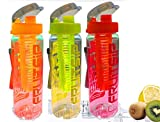 #10: SET OF 3 - 700 ML FRUIT INFUSER WATER BOTTLE / SPORTS WATER BOTTLE BY VISHAL INDIA MART® (COLOR MAY VARY )