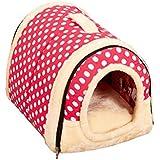 Uokoki Casa de Perro de la Perrera Jerarquía con Cama del Gato del Perro casero Mat