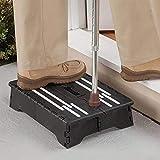 arbitra Taburete plegable de plástico portátil Escalera de mano negra Escalera de edad avanzada Embarazadas Niños Baño Caravana Uso de viaje Cocina Baño effective