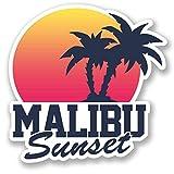 2 x 30cm/300mm Malibu Sonnenuntergang Fenster kleben Aufkleber Auto Van Wohnmobil Glas #5499