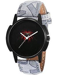 Eraa Grey Strap Black Spider Analog Wrist Watch For Men