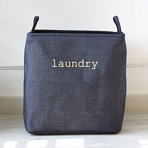 LU Pliable, denim, coton, linge, linge, panier, vêtements, stockage, panier (couleur : Bleu, taille : L)