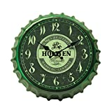 Crown Bottle Cap Retro Wanduhr Adornment Bracket Clock Silent-Wand-Dekor B