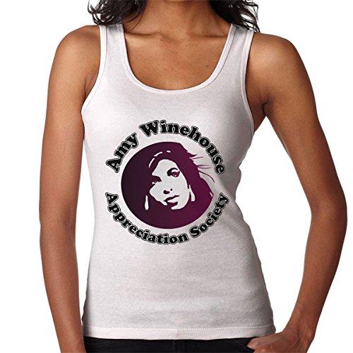 The Amy Winehouse Appreciation Society Women's Vest White
