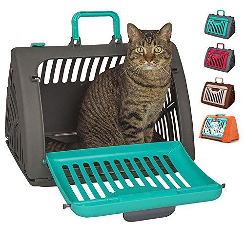 xueyan& Katze Katze Korb Katze aus Jacke Katze Koffer Haustier Luft Box Rucksack Katze Katze Nest faltbare Luftbrücke, lake blue