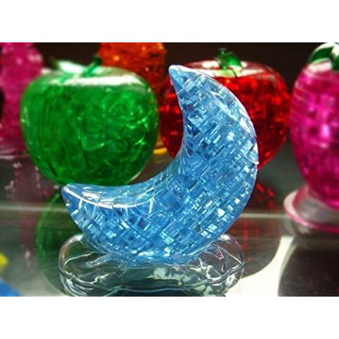 PicknBuy® Puzzle 3D Crystal Blue Moon Jigsaw Puzzle IQ giocattolo modello decorazione