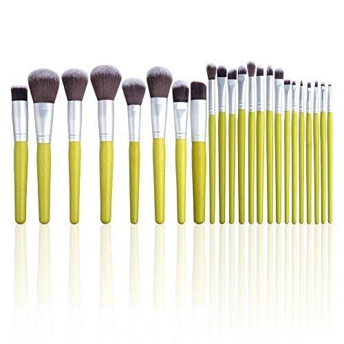 lot de pinceaux de maquillage 23 PCS Professionnel Trousse Brush Set Cosmétiques Accessoires kit avec Pochette de Voyage pour Fard à Paupières Sourcil Cil Lèvre Poudre Blush Anti-cernes Fond de Teint Fard à joues
