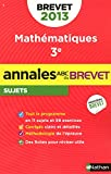 ANNALES BREVET 2013 MATHS NON