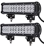 Leetop 2X 72W CREE LED Phare Barre Projecteur de Travail Spot et Flood Camion Tout-Terrain 4x4 ATV SUV