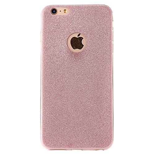 Clear Crystal Rubber Protettivo Case Skin per Apple iPhone 5/5s/SE, CLTPY Moda Brillantini Glitter Sparkle Lustro Progettare Protezione Ultra Sottile Leggero Cover per iPhone 5, iPhone 5s, iPhone SE + Rose Gold
