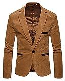 Slim Fit Herren Sakko Casual Elegant Blazer Jacke Hochzeit Party Kaki XL