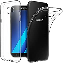 IND 0.3Mm Ultra Thin Transparent Silicon Back Cover For Samsung Galaxy A5 2017