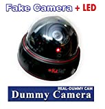 KaSul®Germany| 1x Real Dummy Atrappe Kamera *Rote blink LED* Dome Überwachungskamera