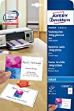 Avery Zweckform C32028-25 Premium Visitenkarten (200 Stück, 85 x 54 mm, beidseitig bedruckbar, glänzend) 25 Blatt