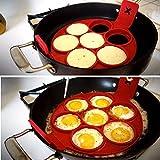 Shinely antiaderente 7fori silicone fantastica macchina per pancake Egg Ring Maker stampo Flippin fantastico antiaderente Padella per pancake Egg Frying Mold