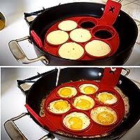 New Fantastic Nonstick Pancake Maker Egg Ring Maker Perfect Pancakes 4/7/10 Grids Egg Breakfast Tools Snake Cake Mold