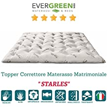 EvergreenWeb–Futón colchón matrimonio, acolchado tela ALOE VERA, ergonómico y Avvolgente, excelente como cama Salvaspazio, o como práctico Topper colchón. Apto a todos los usi- Pil