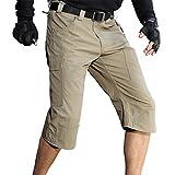 Free Soldier Pantacourt 3/4 d'extérieur pour homme Respirant, pour l'été, avec plusieurs poches