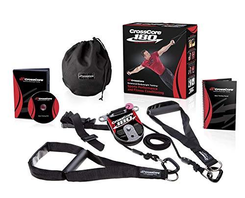 CrossCore® Schlingentrainer Sling Trainer Bodyweight Fitness Resistance Straps Trainer DVD und Übungshandbuch Buch Schritt für Schritt