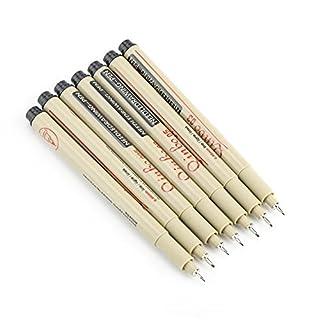 Stylos à dessin à l'encre, stylo à bille encreur pour Manga Bande dessinée Calligraphie Sketch Pigment Line Word Art Peinture Artisanat Fabrication(#2)