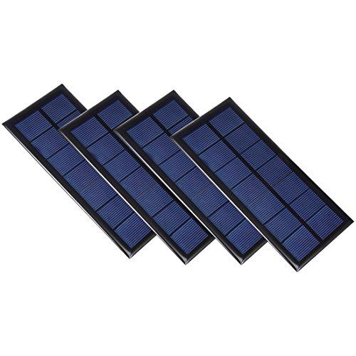 sourcing map 4 Stücke 3,5V 340mA Poly Mini Solarzelle Platte Modul DIY Spielzeug Ladegerät DE