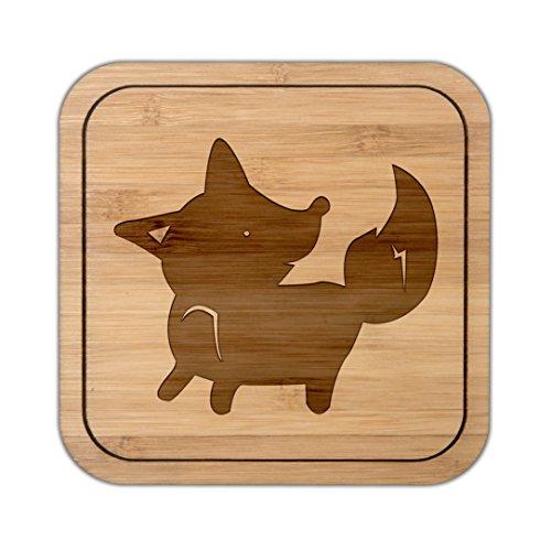 Mr. & Mrs. Panda Schenken, Quadrat, Untersetzer quadratisch Fuchs stehend - Farbe