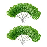 24pcs Grosse Artificielle de Monstera Palmes Tortue Feuille