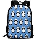 best& Panda Bear Canvas Laptop Backpack Cute School College Shoulder Bag for Women Men
