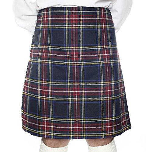 bb58eaf439b8 Kilt Écossais de 8 Yard pour Hommes - Stewart Black Tartan - 30