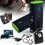 Indigi ® Heavy Duty 12800mAh USB 12 V Notfall-Starthilfekabel Power Bank Reifenpanne Air Compressor Durable Hard w Case...