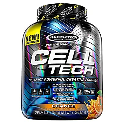 Muscletech Performance Series Cell Tech Hardgainer Creatine Formula Powder, 2.7 kg, Orange by MuscleTech