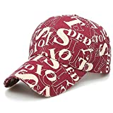 Baseball Cap Korean Version The Tide Brand Embroidered S Literary Japanese Sunshade Cap Student Casual Hiking Fishing Wild Hat@Red Wine_Adjustable