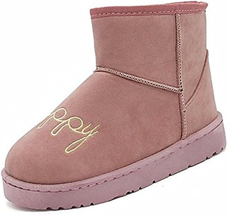 fa07fe72bdb949 zhudj des chaussures bottes en caoutchouc bottes de neige de de de l'hiver  pointe ronde b0784swj6r rose Gris noir plein air parent   Belle Couleur  5296ba
