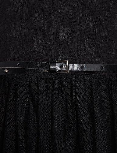 Morgan - Robe - Patineuse - Sans manche - Femme Noir