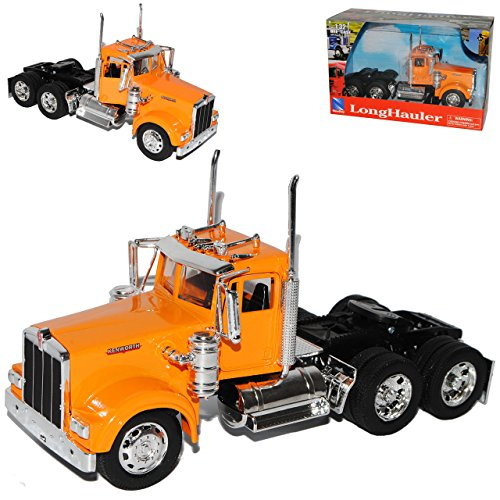 Kenworth-lkw-modelle (Kenworth W900 Zugmaschine Orange Truck LKW 1/32 New Ray Modell Auto)