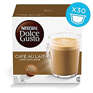 Nescafé Dolce Gusto Café Au Lait - Pack of 3 (Total 90 Capsules, 90 servings)