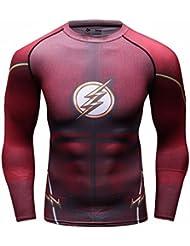 Cody Lundin Homme t-shirt Compression Manches Longues Flash Héros Mouvement Fitness Sport Chemise