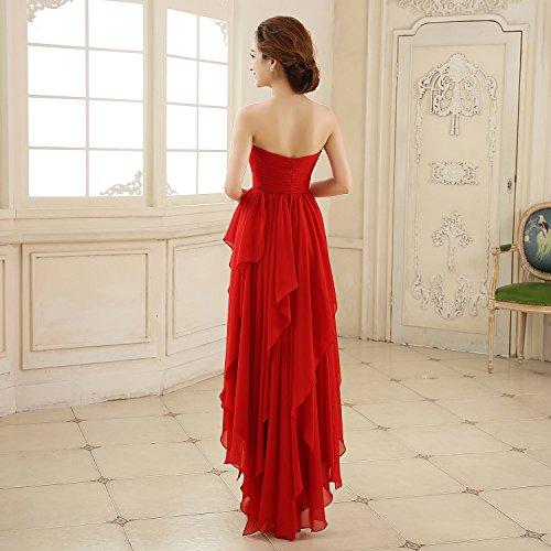 Bridal_Mall - Robe - Trapèze - Sans Manche - Femme Rouge