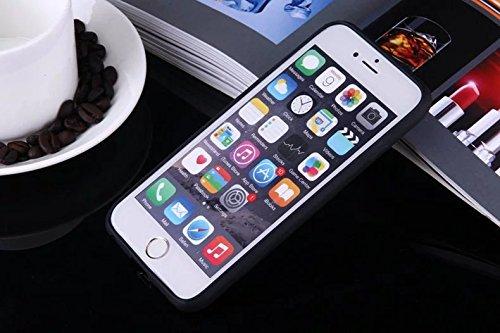 Wkae Case Cover Finger Fleurs Imprimé Conception de protection PC Hard Cover Case + TPU Bumper pour iPhone SE 5S 6 6S plus by DIEBELLEU ( Color : Pink , Size : IPhone 6S Plus ) Black