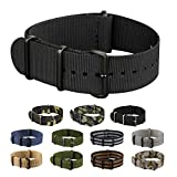INFANTRY® NATO Watch Band Strap Nylon Fabric 4 Rings Stainless Buckle with 20mm and 22mm