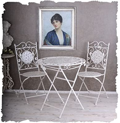 Nostalgie GartenmÖbel Shabby Chic Weiss Vintage Sitzgarnitur Palazzo Exclusiv